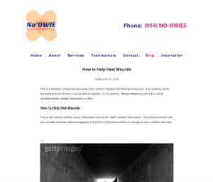 Screen Shot - Blog Page