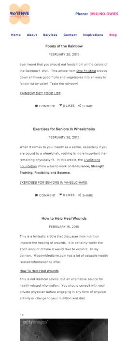 Screen Shot - Revised Blog