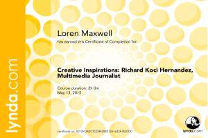 CreativeInspirations-RichardKociHernandezMultimediaJournalist_CertificateOfCompletion